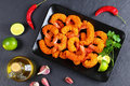 Deep Fried Breaded Shrimps On Plate Royalty Free Stock Photo - 98836985