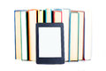 Ebook Leaning Paper Books. New Technology Concept Stock Photo - 98849190