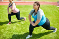 Working Out On Lawn Stock Photography - 98864572
