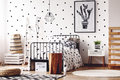 Kids Room With Simple Poster Royalty Free Stock Photos - 98865928