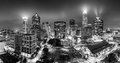 Black And White, Aerial View Of Charlotte, NC Skyline Stock Images - 98898934