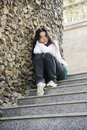 Girl At The City, Problems Stock Photography - 9894502