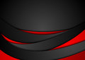 Red And Black Abstract Wavy Corporate Background Stock Photography - 98905202