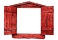 Red Wooden Window Royalty Free Stock Image - 98911786