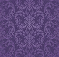 Seamless Luxury Purple Floral Damask Wallpaper Stock Images - 98913254