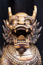 Dragon Bronze Statue In A Chinese Buddhist Temple Royalty Free Stock Image - 98924266