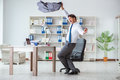 The Businessman Having Fun Taking A Break In The Office At Work Stock Photos - 98950663