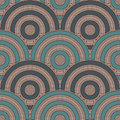 Blue Color Fish Scale Wallpaper. Asian Traditional Ornament With Repeated Scallops. Seamless Pattern With Semicircles Stock Photo - 98953890