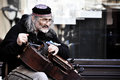 Old Street Musician Playing Hurdy Gurdy Royalty Free Stock Photos - 98958348
