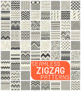 Seamless Zigzag Pattern Set. Abstract Vector Chevron Background Royalty Free Stock Photo - 98975625