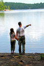 Father Daughter Lake Royalty Free Stock Images - 997569