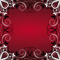 Floral Frame On Red Background Royalty Free Stock Photo - 9901495