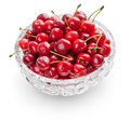 Cherries In Crystal Bowl Stock Image - 9909551
