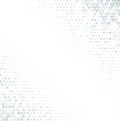 Vector Halftone Abstract Background, Grey White Texture Gradient Gradation. Geometric Mosaic Triangle Shapes Monochrome Royalty Free Stock Image - 99007716