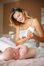 Mother With Her Baby By At Home. Royalty Free Stock Image - 99043866