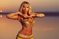 Beautiful Blonde Belly Dancer Woman Stock Photography - 99055012