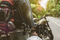 The Man Who Driving Motorcycle On The Road For Travel Stock Photo - 99057800