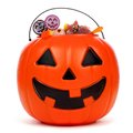 Halloween Jack O Lantern Candy Pail Over White Stock Image - 99072101