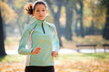 Woman Jogging In Nature Stock Photos - 99085693