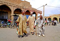Three Elderly Berber Men Go To Souk Of The City Of Rissani In Morocco Stock Photos - 99095603
