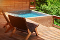 Swimming Pool In Wooden Terrace Royalty Free Stock Image - 99121106