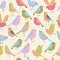 Seamless Pattern With Birds. Vector Illustration. Royalty Free Stock Images - 99140229