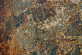 Texture Of Rusty Iron, Cracked Paint On An Old Metallic Surface, Sheet Of Rusty Metal With Cracked And Flaky Paint,  Corrosion, De Stock Photos - 99177723