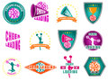 Set Of Labels, Logos For Cheerleading Stock Photos - 99237023