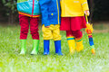 Kids In Rain Boots. Rubber Boots For Children. Royalty Free Stock Photography - 99241407