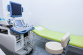 Interior Of Examination Room With Ultrasonography Machine In Hospital. Selective Focus Royalty Free Stock Photos - 99244628