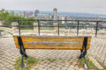 Hamilton, Canada Skyline With Park Bench In Foreground Stock Photography - 99246262