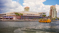 Tampa Convention Center And Water Taxi In Downtown Tampa, Florid Stock Images - 99249334