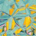 Vivid Teal And Yellow Modern Abstract Illustration Royalty Free Stock Photography - 99261417