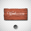 Vector Wood Texture Background Design. Natural Dark Vintage Wooden Illustration With Old Style Board On Transparency Background Royalty Free Stock Photography - 99266257