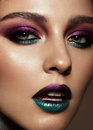 Beautiful Girl With Creative Colorful Makeup. Beauty Face. Royalty Free Stock Images - 99274939