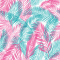 Seamless Pattern Of Palm Leaves. Tropical Background. Vector Illustration. Royalty Free Stock Photo - 99281095