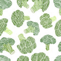 Green Broccoli Texture. Grungy Seamless Pattern. Stock Images - 99287694