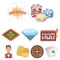 The Set Of Symbols Casino Games. Gambling For Money. Chips, Dominoes, Casino. Casino And Gambling Icon In Set Collection Royalty Free Stock Photos - 99329928