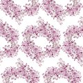 Seamless Pattern. Pink Flowers Lilac. Vector Background Banner. Stock Image - 99460151