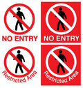 No Entry & Restricted Area Royalty Free Stock Photography - 9959027