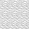 Vector Seamless Wavy Line Pattern. Graphic Texture. Hand Drawn Background.  Royalty Free Stock Photography - 99543837