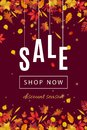Autumn Discount Sale Banner Template Stock Images - 99574694