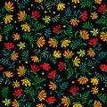 Vector Seamless Decorative Floral Embroidery Pattern, Ornament For Textile Decor. Bohemian Handmade Style Background Stock Photography - 99619832