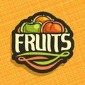 Vector Logo For Set Fresh Fruits Royalty Free Stock Photography - 99625467