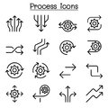 Process Icon Set In Thin Line Style Royalty Free Stock Photos - 99626628