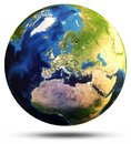 Earth Sphere Map 3d Rendering Royalty Free Stock Photography - 99670057
