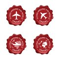 Flying Around The World On Red Seal Wax Illustration Royalty Free Stock Photo - 99693475