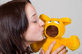 Girl With Teddy Bear Stock Photos - 9975663