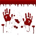 Set Of Realistic Bloody Prints. Stock Image - 99732071