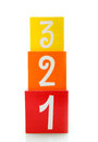 One, Two, Three Colored Blocks Stock Image - 9985401